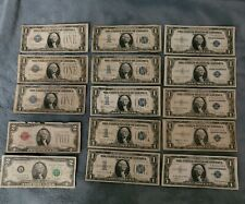Lot of (13)One Dollar Bill and (2) Two dollar bill 1928 , 1934,1935,