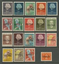 UNTEA Sc# 1a - 19a Set19 MNH FVF Overprints Queen & Birds