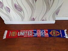 Manchester United V CSKA MOSCA calcio sciarpa vintage bufanda sciarpa calcio