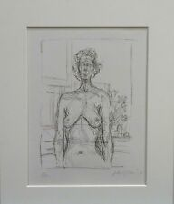 """Alberto Giacometti Lithograph """"Nude with Flowers"""", 1960"""