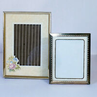 "* Photo Frame #08 Metal Gold Tone Horizontal Vertical 4x5 & 5X7"" Lot USA SELLER"