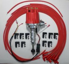 FORD Y Block 272-292-312 RED Small HEI Distributor + 8mm Spark Plug Wires 90s