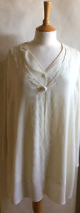 Ladies pale cream occassion tailored long sleeved top by Precis Petit 16