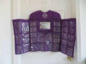 NEW - Joy Mangano mirror 28 pocket organizer - purple