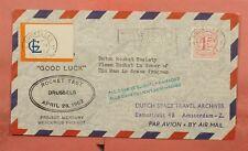 1962 Belgium Project Mercury Rocket Mail Brussels Flight Ez# 19C1