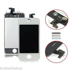 SCHERMO DISPLAY IPHONE 4S BIANCO PER APPLE TOUCH SCREEN LCD RETINA VETRO FRAME