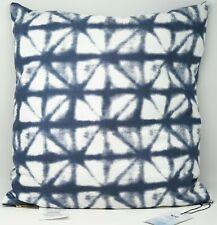 """Sparrow & Wren Shibori Diamond Decorative Throw Bed Pillow 20"""" x 20"""" - Blue"""