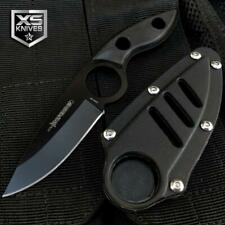 """7"""" Tactical FULL TANG Military SURVIVAL Fixed Blade Neck BOOT Knife + Sheath BLK"""