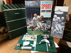 Vintage Aurora Great Moments In Sports Jimmy Brown Parts with Box and...