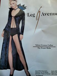 Women's Costume Sexy Velvet Crown Collar Robe Size S/M