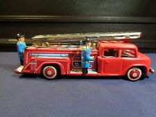 Vintage Toy Tin Fire Truck Friction Siren (bell) MF718 nice orig boxes