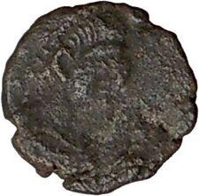 LEO I 457AD  Rare Authentic Ancient Roman Coin Verina w cross  i20748