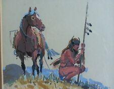 Santos Barbosa Original Watercolor American Painting Artist