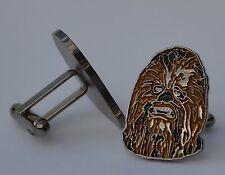 Star Wars Chewbacca Wookiee Quality Enamel Cufflinks