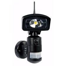Knightwatcher LED Robotic PIR Sensor Security Light & Camera, Black with 4GB SD