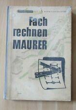 DDR Lehrbuch Fachrechnen für Maurer  Beipiele Berechnung Übungsaufgaben