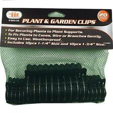 IIT 30510 20Pc Plant & Garden Clips Securing Flowers Bushes Branches Vine 1-1/4
