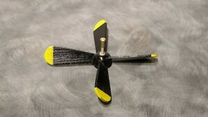 "ONE 5.5""  Airplane Whirligig Propeller fully assembled and painted   SOLID WOOD"