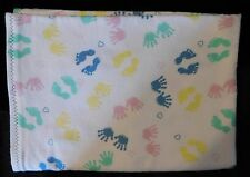 """Homemade Snuggle Flannel Homemade Reversible Baby Blanket-41"""" by 28"""""""