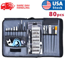 Cell Phone Repair Kit 80X Magnetic Screwdriver Tool Bag Holder Computer Laptop