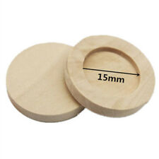 10pcs Round Wooden Cameo CABOCHON Setting Base/tray Pendants DIY Necklace Making 15mm Wood Color