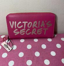 Victorias Secret NWT Pink & Gold Zip Around Wallet NEW