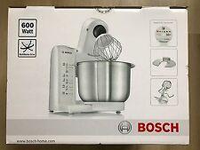 Bosch MUM4807GB Kitchen Machine, 600 W - 3.9 L, White/Stainless Steel New,Sealed