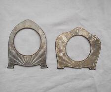 LOTTO di 2 fronti D'ARGENTO PER OROLOGIO CLOCK CORNICE in inglese tratti distintivi 1930 S 84 G