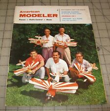 AMERICAN MODELER (Sept 1957) Good- Condition RC Airplanes Magazine
