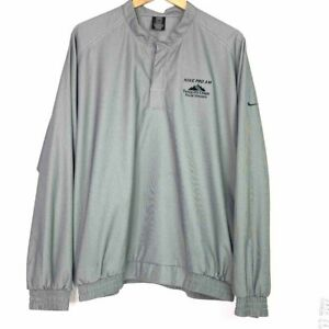 Nike Pro AM Tahquitz Creek Vintage 90s Golf Jacket Gray Houndstooth Pullover L