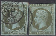 1860 lot 2 Napoléon 1c olive Y&T 11 cote 180€ cv +$210