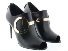 1adbe74a3 GUCCI 388358 Womens Black High Heel Leather Ankle Boots 1008 Size 39 EU $995