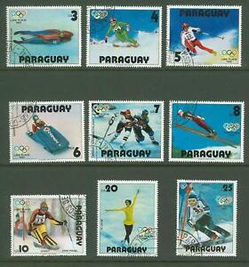 Paraguay A45 Sports OLYMPICS Skiing Skating Bob Slalom 9v used 1980