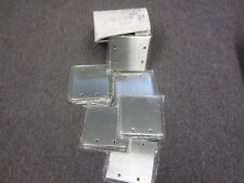 Mulberry 97152     2 Gang Blank Stainless Steel Wall Plate  Box Of (10) NEW
