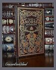 Tales of Norse Mythology Viking Tales Illustrated New Sealed Leather Hardcover