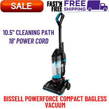 BISSELL PowerForce Compact Bagless, Upright Vacuum, Multi-Surface Cleaner, Blue