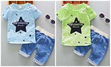 2pcs Toddler Baby Boys summer top Tee+short Pants Outfits Clothes Set star