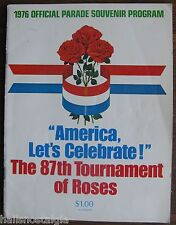 """1976 """"The 87th Tournament of Roses Official Parade Souvenir Program"""", UCLA/OH ST"""