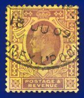 1906 SG233 3d Dull Reddish Purple/Yellow Lemon back CSP M20(3) GU CV-FU£85 bbdu