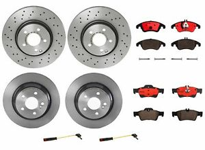 Brembo Front Rear Full Brake Kit Disc Rotors Ceramic Pads For MB W212 Sport Pkg