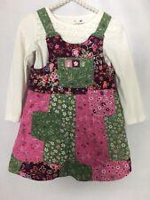 Childrens Place Jumper Dress Girls Size 3T Multi Color Floral Print Knee Length