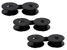 3 x Farbband DIN 32755 schwarz für Brother Smith Corona Nylon - ohne Öse