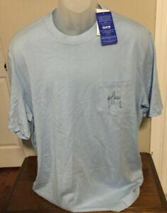 Guy Harvey Powder Blue Graphic Print T Shirt Size XL NWT