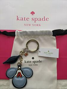 kate spade new york Briar Lane Floral Leather Key Chain Ring / Bag Charm NWT $69