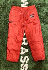 Vintage Tommy Hilfiger Snow Pants 40 X 34 Fleece Lined Red Jeans Snowboard 90s