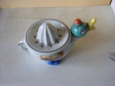 China Juice Squeezer in the shape of a Duck - Pearlised effect on body.