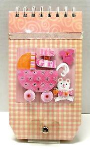 Baby Girl 1st Year MONTHLY PHOTO Scrapbook Album Keepsake - Handmade SALE