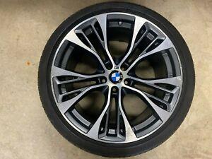 "1 GENUINE OEM BMW X5 X6 F15 F16 21"" 599 M PERFORMANCE ALLOY WHEEL RIM REAR 599M"