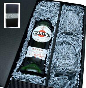 Martini Rosso 14,4% 0,75l mit 2 Gläsern in Geschenkkarton -Gläser-Set