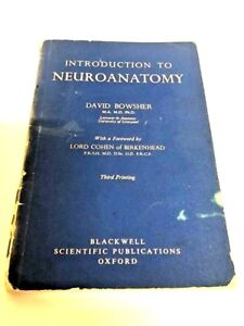 David Bowsher Introduction to Neuroanatomy Paperback Book Vintage Collectable
